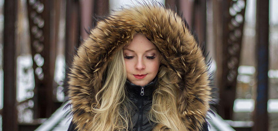Woman in fur hood | fighting flu