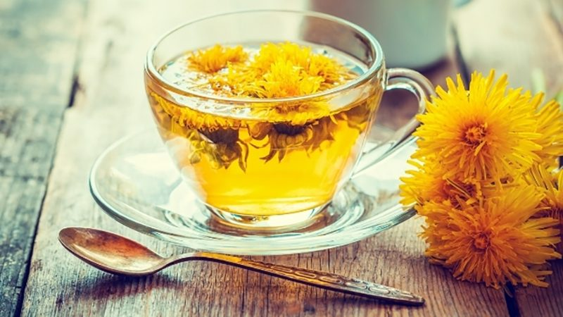 Dandelion tea | water retention symptoms